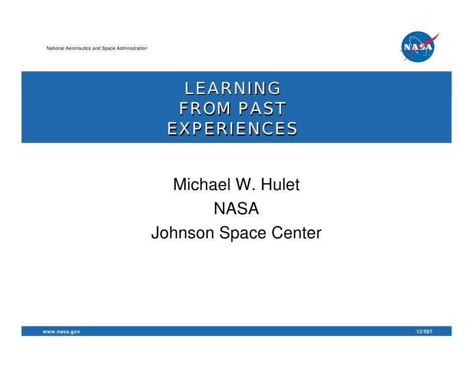 National Aeronautics and Space Administration                                                    LEARNING                 ...