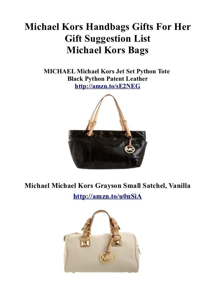 Michael Kors Handbags Gifts For Her        Gift Suggestion List         Michael Kors Bags     MICHAEL Michael Kors Jet Set...