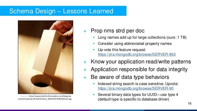 Schema Design – Lessons Learned + Prop nms strd per doc  Long names add up for large collections (ours: 1 TB)  Consider ...