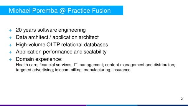 + 20 years software engineering + Data architect / application architect + High-volume OLTP relational databases + Applica...