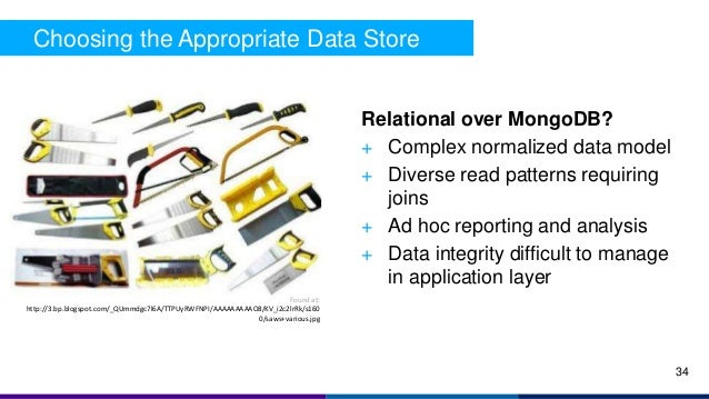 Choosing the Appropriate Data Store Relational over MongoDB? + Complex normalized data model + Diverse read patterns requi...