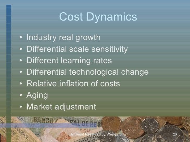 Cost Dynamics <ul><li>Industry real growth </li></ul><ul><li>Differential scale sensitivity </li></ul><ul><li>Different le...