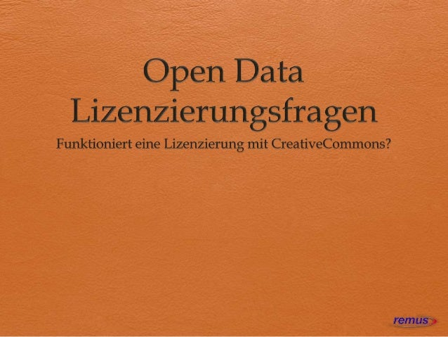  Die Creative Commons als Initiative; Projektleitung Öffentlichkeitsarbeit: Markus Beckedahl Projektleitung Recht: John...