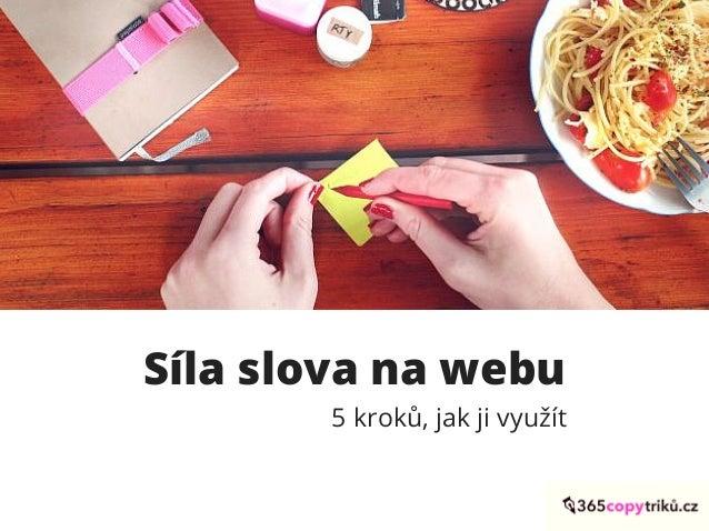 Síla slova na webu 5 kroků, jak ji využít