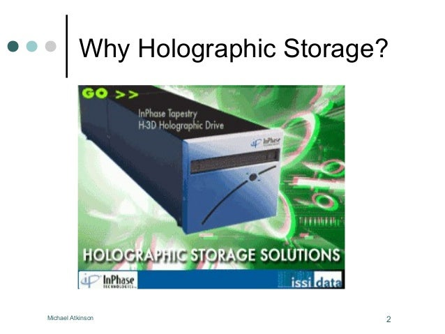 How Holographic Memory Will Work