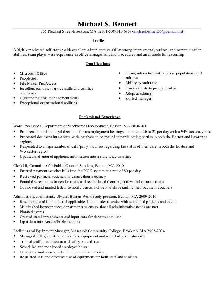 resume for clerk - Yelom.myphonecompany.co