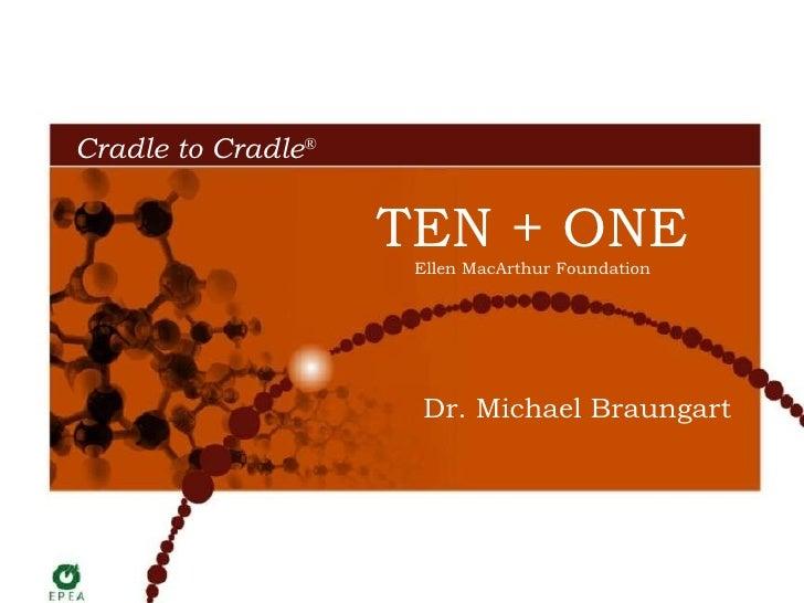 Dr. Michael Braungart TEN + ONE Ellen MacArthur Foundation Cradle to Cradle ®