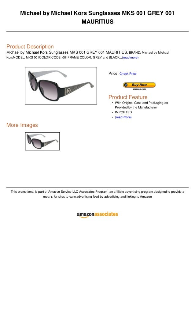 8c22b319732 Michael by Michael Kors Sunglasses MKS 001 GREY 001MAURITIUSProduct  DescriptionMichael by Michael Kors Sunglasses MKS 001