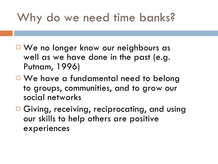 Time Banking Presentation