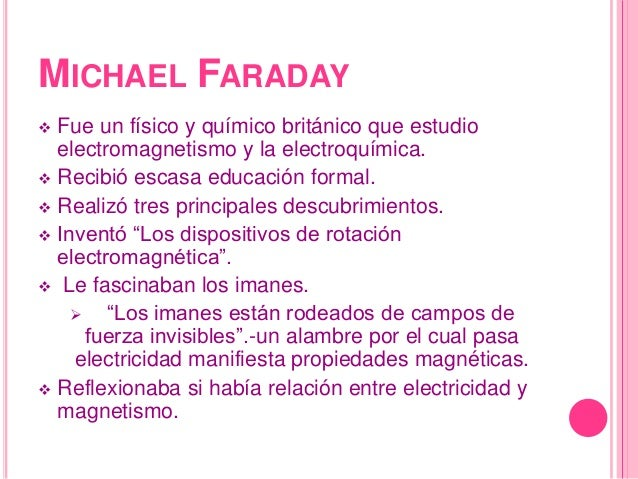 michael faraday 2 essay Summary with the invention of the battery (allessandro volta, 1800), the   michael faraday, the recipient of the letter on 26 july 1832 publishes it  immediately  1/4 hp power (300 w), the boat travels with 2,5 km / h over a 75  km long route.