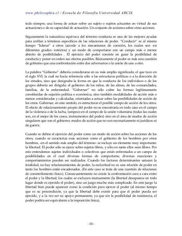 el sujeto y el poder foucault pdf