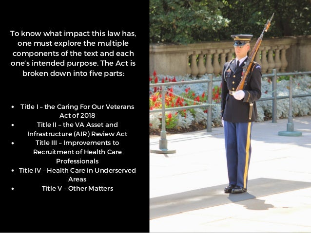 The VA Mission Act: What It Means for Veterans | Michael G. Sheppard  Slide 3