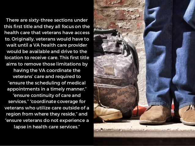The VA Mission Act: What It Means for Veterans   Michael G