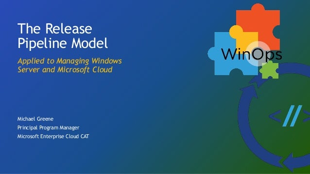 The Release Pipeline Model Applied to Managing Windows Server and Microsoft Cloud Michael Greene Principal Program Manager...