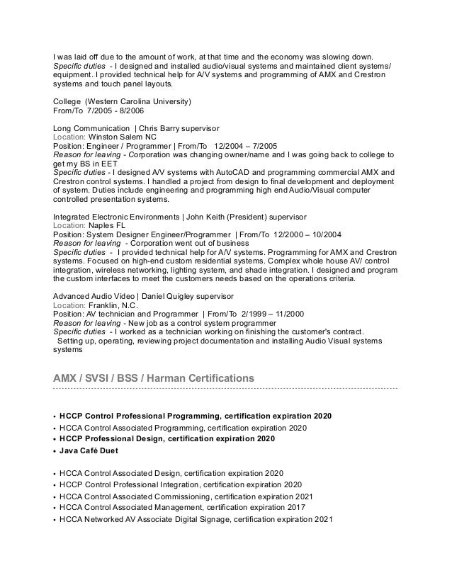 Michael haynes resume