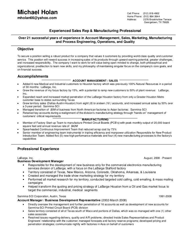 phone sales resume