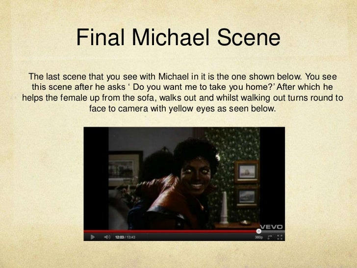 michael jackson thriller analysis Merging all three absolute classics of the beatles, abbey road, sgt pepper's lonely hearts club band and the white album, would still not be enough to challenge thriller alone it tops the complete discographies of acts like guns n' roses, george michael plus wham, britney spears and coldplay.