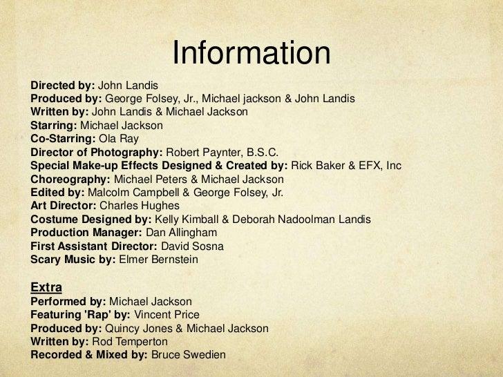 thriller video annalyzation Michael jackson: thriller (video 1983) on imdb: plot summary, synopsis, and more.