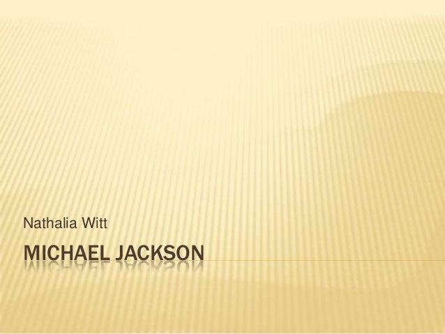MICHAEL JACKSONNathalia Witt