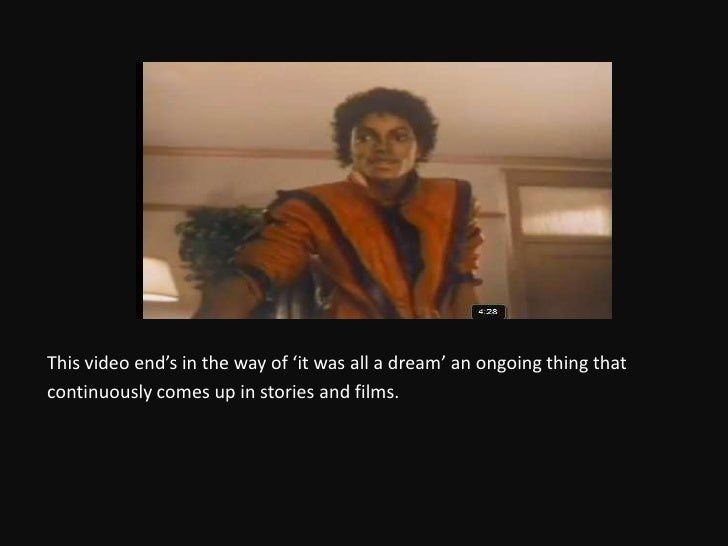 michael jackson thriller analysis John landis was in london in 1983 when michael jackson called to ask if he was interested in making a video for thriller, the title track of the album he'd released a.
