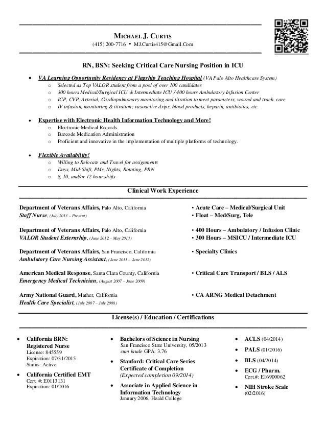 michael j curtis résumé most recent