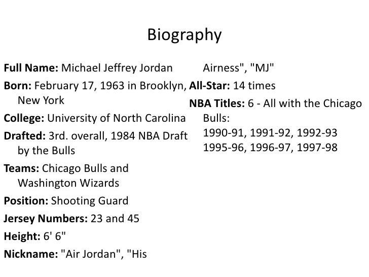 Full Name: Michael Jordan