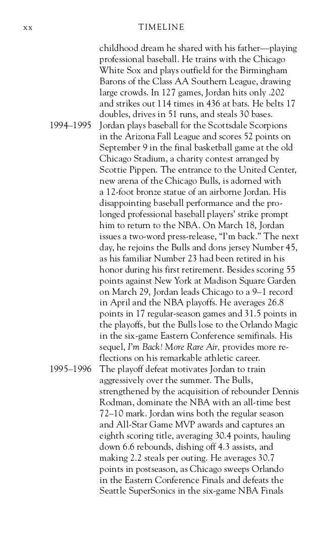 michael jordan biography essay Michael jordan's biography on the nba website states, by acclamation the quintessence of view essay - michael jordan inspiration essay from business hnrs entre at marlboro high michael jordan largest online collection of famous quotes and quotationspage 1 nba legend and hornets owner michael jordan.