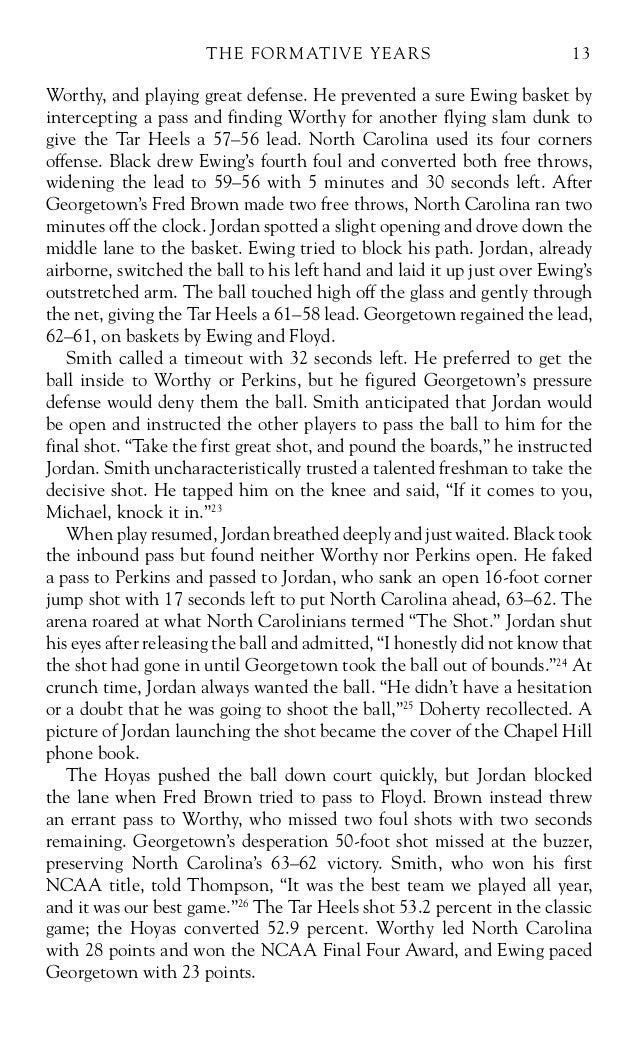 michael jordan biography essay on life