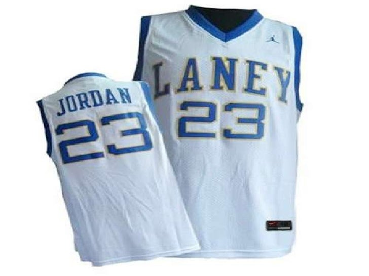 buy online 85855 79a28 emsley a. laney high school 23 michael jordan white jersey