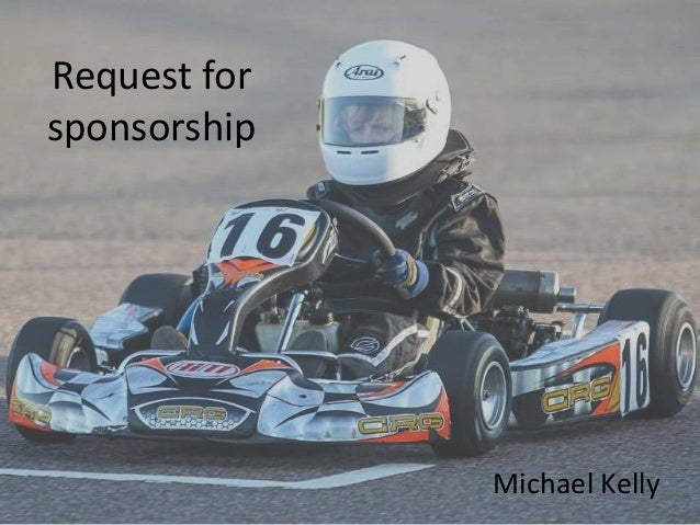 Request for sponsorship Michael Kelly