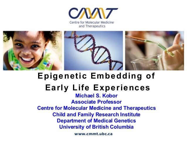 Epigenetic Embedding of Early Life Experiences               Michael S. Kobor             Associate ProfessorCentre for Mo...