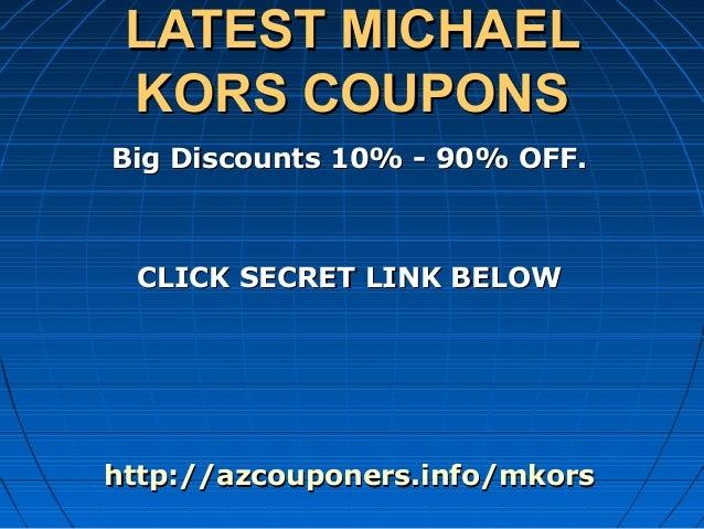 Michael kors online discount coupons