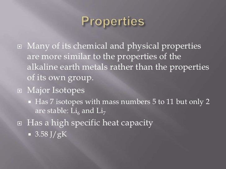 Physical And Chemical Properties Of Isotopes