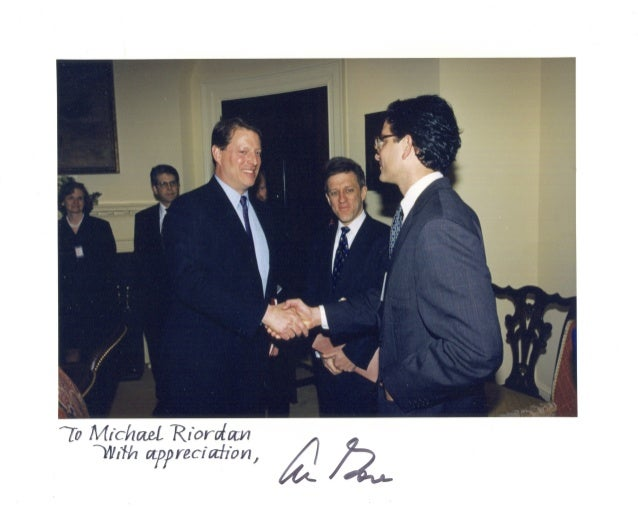 OFFICE OF THE VICE PRESIDENT WASHINGTON February 21, 1996 Michael Riordan President and Chairman ofthe Board Gilead Scienc...