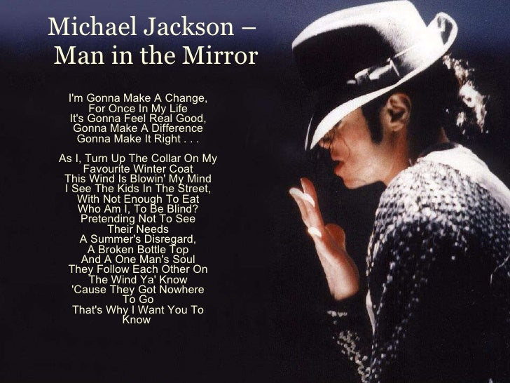 Michael Man In The Mirror Lyrics
