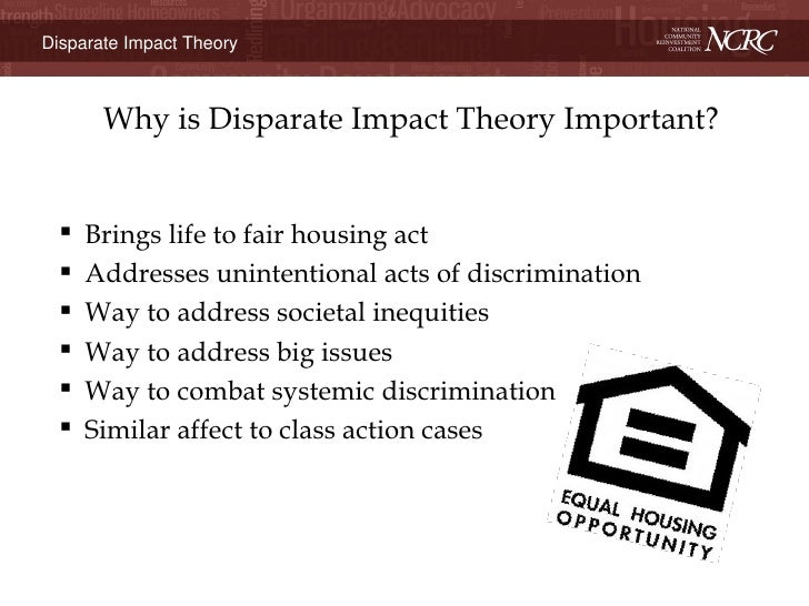 Michael Mitchell Disparate Impact Theory The disparate impact theory long has been viewed as one of the most important and controversial 9. michael mitchell disparate impact theory