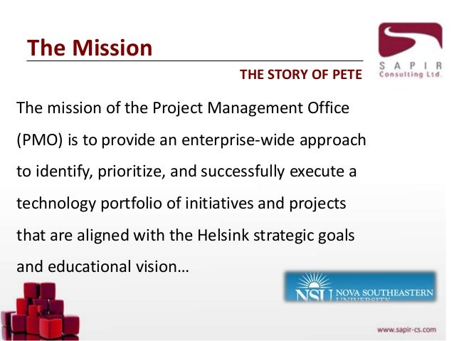 The agile pmo agile business conference london - Project management office mission statement ...