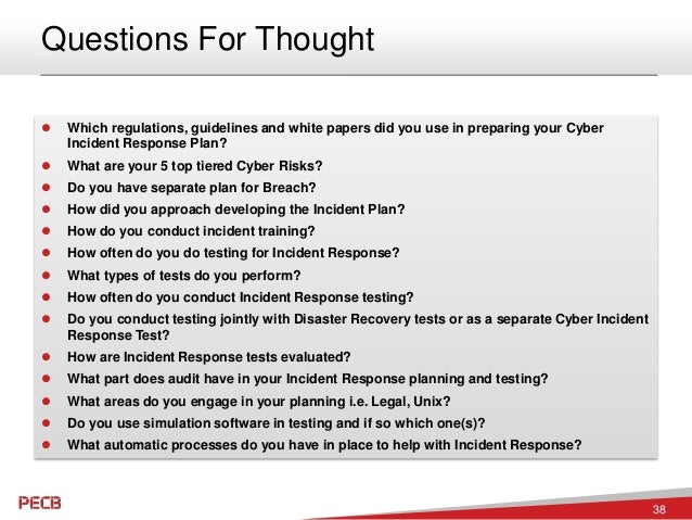 Cyber Security Incident Response Planning