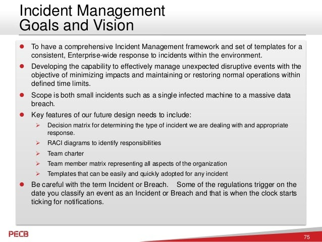 Cyber security incident response planning for Information security incident response plan template