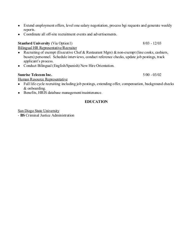 Michael Salas - Recruiter Resume 2015