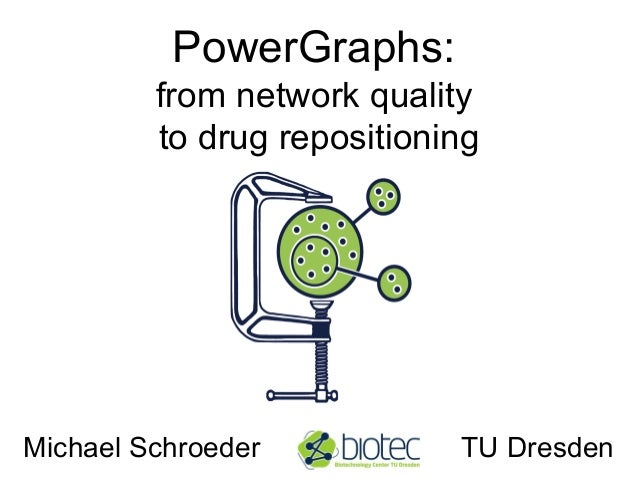 PowerGraphs: from network quality to drug repositioning Michael Schroeder TU Dresden