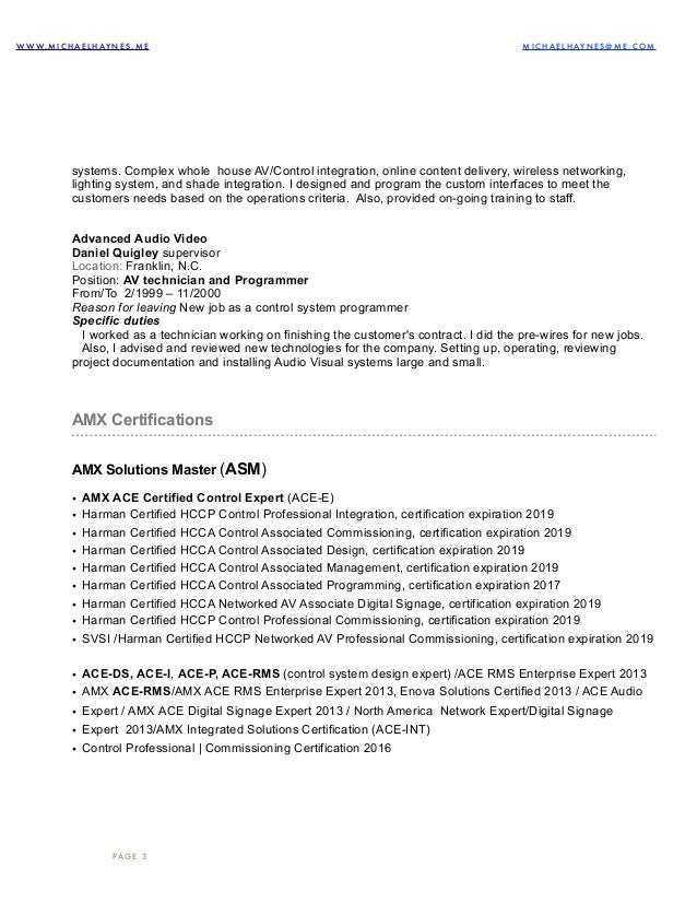 Audio Visual Technician Resume Examples Well Designed Technician Resume  Examples Producer Cv Example Visualcv Resume Samples