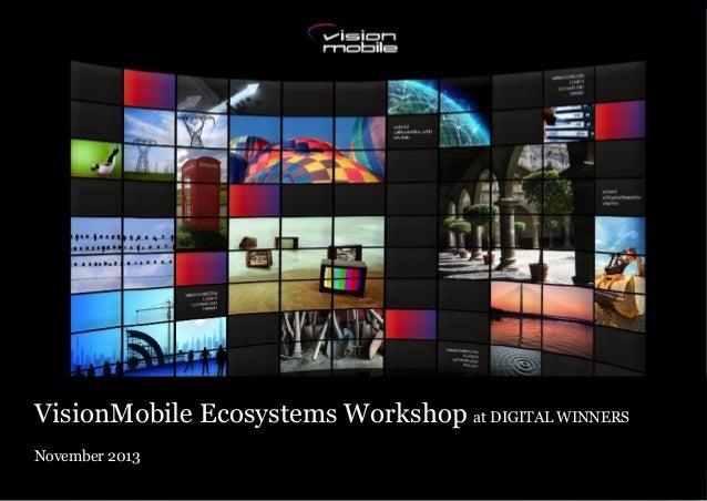 VisionMobile Ecosystems Workshop at DIGITAL WINNERS November 2013 Copyright VisionMobile 2013 Copyright VisionMobile 2012