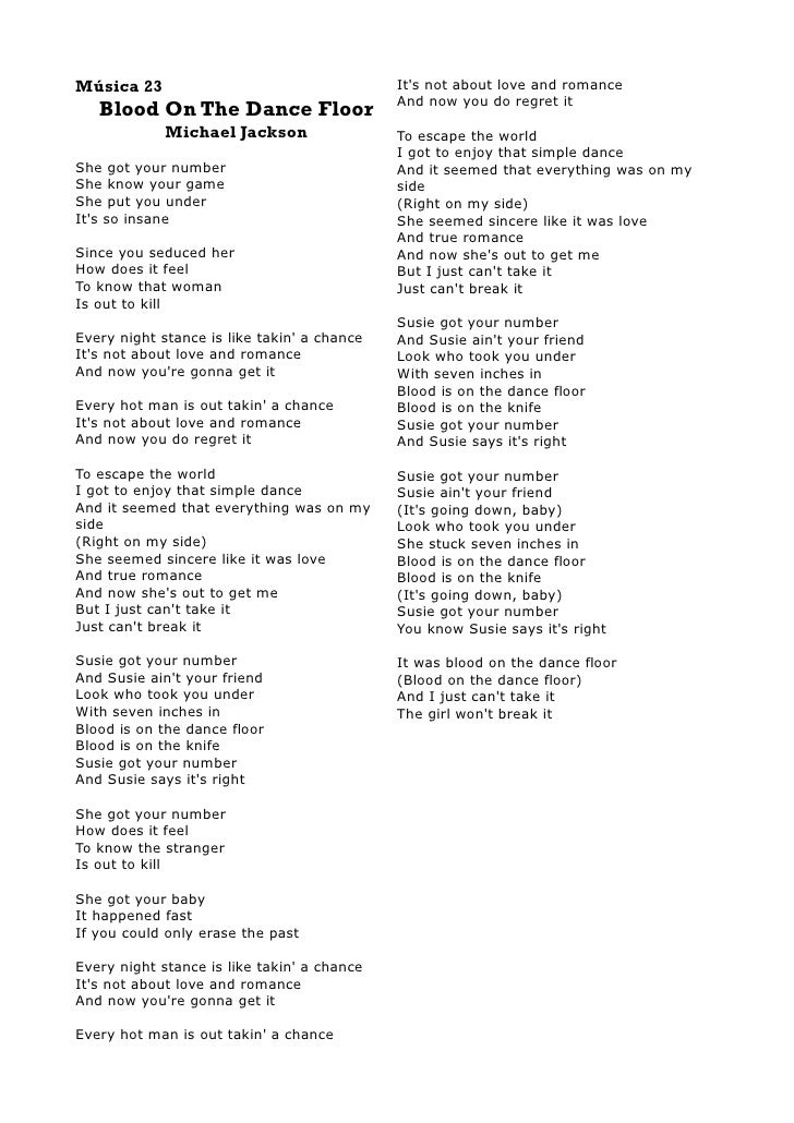 Michal Jackson Lyrics Book I