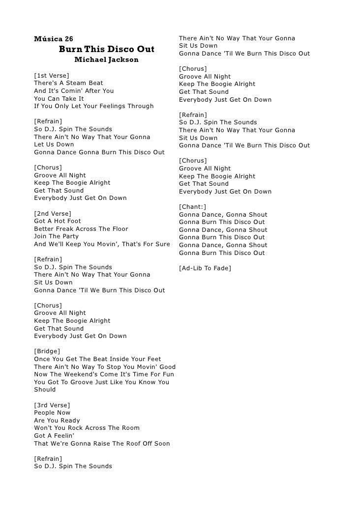 Lyric ain t no way lyrics : Michal Jackson Lyrics Book I