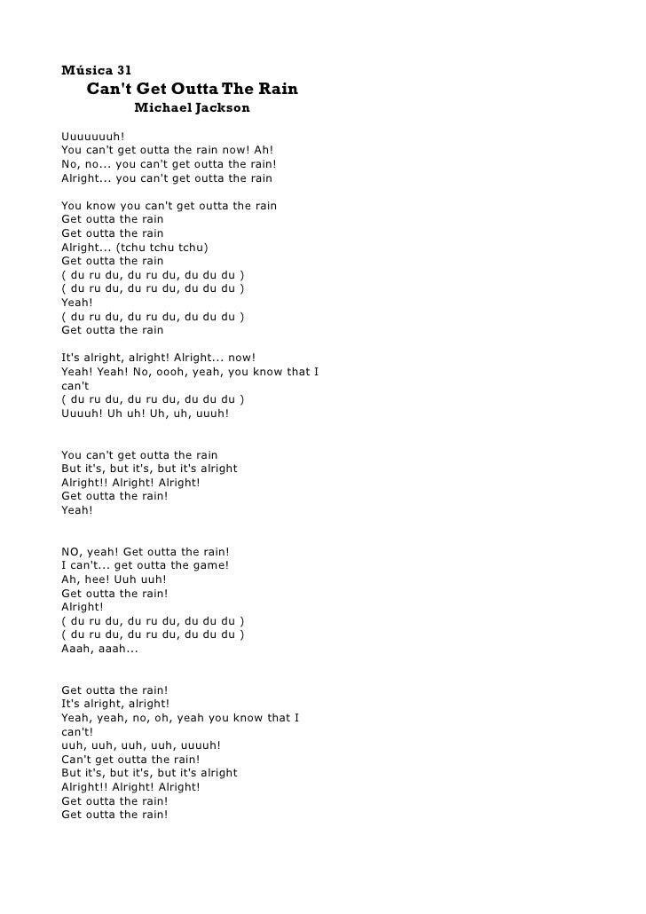 Lyric louisiana rain lyrics : Michal Jackson Lyrics Book I
