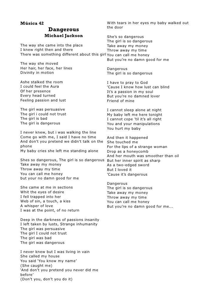 Lyric me & u lyrics : Michal Jackson Lyrics Book I