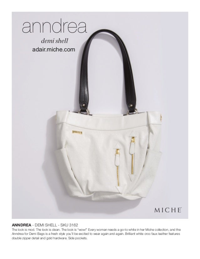 Miche Demi Shell Kaye Matching White Croc Fashion Handles NEW in Package