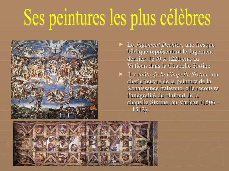 Michel ange buonarroti2 - Fresque du plafond de la chapelle sixtine ...
