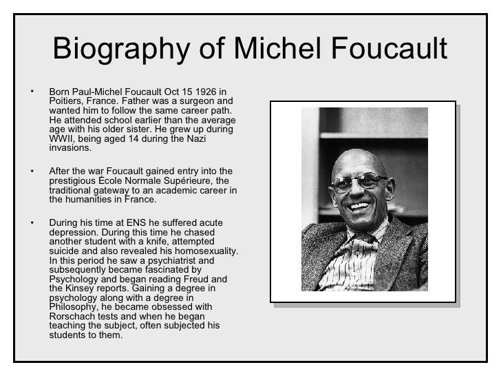 Foucaults views on homosexuality